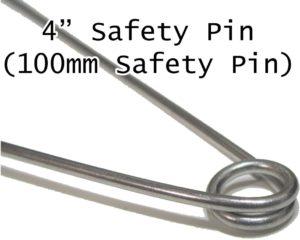 ジャンボ安全ピン 100ミリ (4インチ)